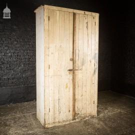 Vintage 8ft Tall Industrial Workshop Cupboard Cabinet