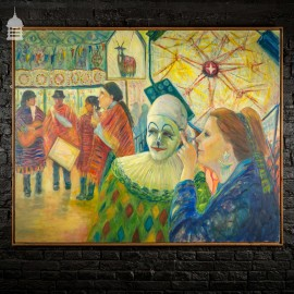'Puck Fair' Large Scale Oil on Canvas by Mary Chapman 1991