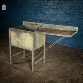 Metal Industrial Galvanised Sink and Drainer