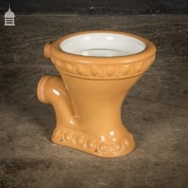 Circa 1905 Art Nouveau 'The Excelsior Washdown Pedestal' Cane Toilet With Moulded Detail