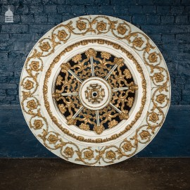Impressive Elaborately Carved 19th C Celling Rose 4 ½ ft in Diameter