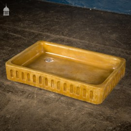 19th C Glazed Fluted Shallow Gamekeepers Sink