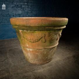 Large Scale 20th C Decorative Terracotta Plant Pot