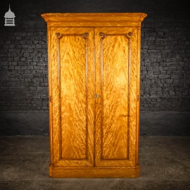 19th C Compact Satin Wood Wardrobe