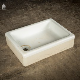 Shallow 19th C Cane and White Twyfords Trough Sink