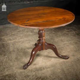 18th C Exotic Wood Eagle Claw Flip Top Round Table