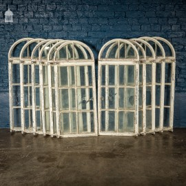 Set of 11 Vintage Arched Top Crittall Windows