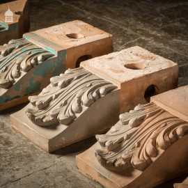 19th C Collection of 47 Architectural Corbel Elements with Acanthus Detail