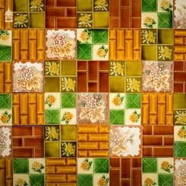 "Mixed Batch of 42 19th C Decorative Glazed 6"" x 6"" Ceramic Tiles"
