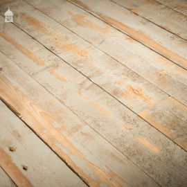 Batch of 40 Square Metres Wide Floorboards or Wall Cladding Cut from Reclaimed Joists with Skimmed Paint Finish