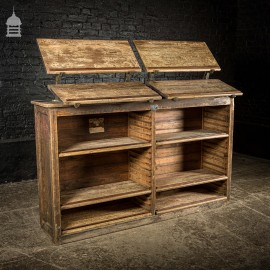 Edwardian Printers Rack By J.S Hall & Son with 10 Numbered Removable Shelves and Display Brackets