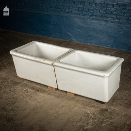Pair of 19th C Worn Laundry Trough Sinks