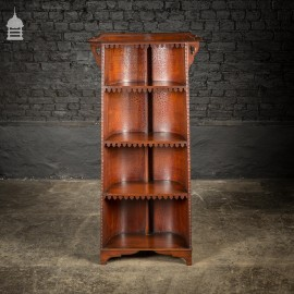 19th C Barrel Back Pugin Style Bookcase From an Oxford College