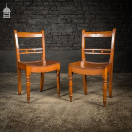 Pair of 18th C Elm Country Farmhouse Chairs
