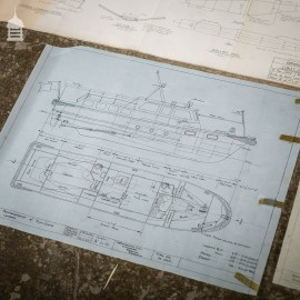 Batch of 550 Vintage Marine Architectural Plans Technical Drawings Blueprints