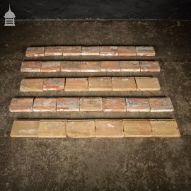 Run of 7.5 Meters of 18th C Buff Handmade Clay Country Estate Manor House Skirting