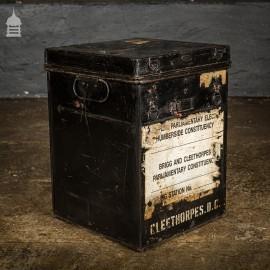Black 19th C Metal Ballot Box Cleethorpes DC Election