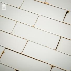 Batch of 490 Vintage White Glazed Bricks