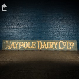 Large Scale Single Pine Plank 19th C 'Maypole Dairy' Commercial Sign