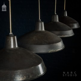 Batch of 5 NARC Studio Stripped Industrial Metal Light Shades