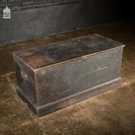 19th C Pine Blanket Box Chest Trunk