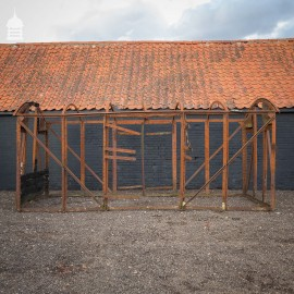 Vintage Riveted Iron Railway Carriage Frame