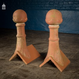Pair of Terracotta Finials