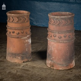 Pair of Victorian Decorative Chimney Pots