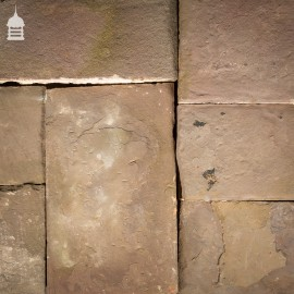 Batch of 3.9 Square Metres of Mixed Thickness Pennant Stone Slabs Flagstones Paving