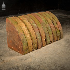 Batch of 22 Quarter Round 18th C Wall Coping Red Brick Copings