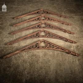 Batch of 34 19th C Cast Iron Greenhouse Orangery Brackets