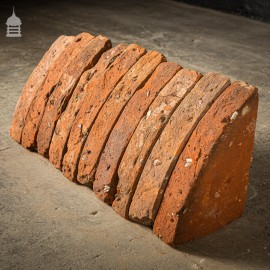 Batch of 60 Quarter Round Wall Coping 18th C Red Brick Copings
