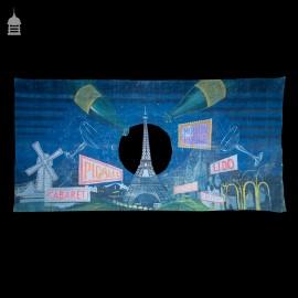 Theatre UV Backdrop Cloth Circa 1960 Moulin Rouge