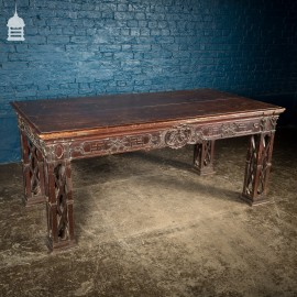 Circa 1900 Chippendale Revival Hardwood Sideboard Table from the Baroda Residency in India