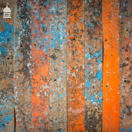 """Original 1st Batch of 5.5 Square Metres of """"Paint Shop"""" Pine Floorboard Wall Cladding"""