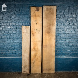 Batch of 3 Chunky Seasoned Oak Planks