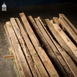 Batch of 26 Original 16th C Oak Barn Roof Purlins