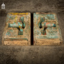 Pair of Vintage Industrial Foundry Moulds