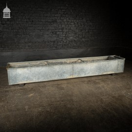 10ft Galvanised Riveted Water Trough Planter