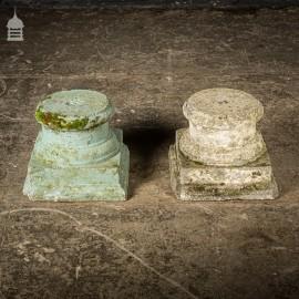 Pair of Vintage Concrete Pillar Bases