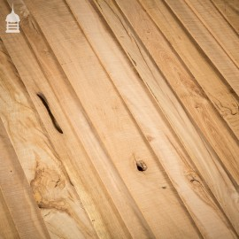 15 Square Metre Batch of Mixed Thickness & Width Thin Oak Boards Wall Cladding
