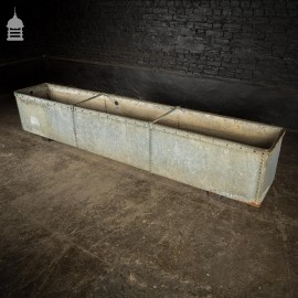 9ft Galvanised Riveted Water Trough Planter