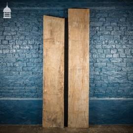 Pair of Thick Seasoned Oak Planks