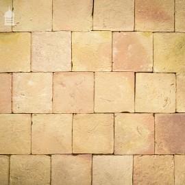"""BRITANNIA BRICKS"" Traditionally Handmade 9"" x 9"" Buff Pamments Floor Tiles"