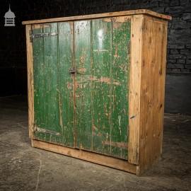 Bygone Pine Industrial Cabinet Cupboard