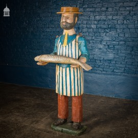 Victorian Carved Timber Fishmonger Shop Figure