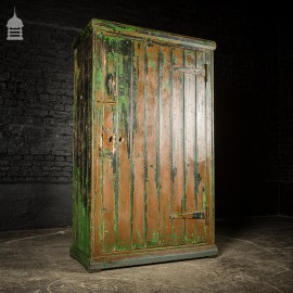 Pine Industrial Cabinet Cupboard with Distressed Painted Finish