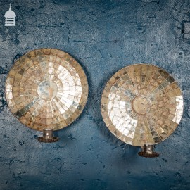 Pair of Vintage Segmented Wall Mirror Sconce