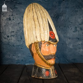 Circa 1900 Hand Carved Timber Bust of Field Marshal Horatio Herbert Kitchener