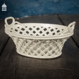 18th C Meissen White Porcelain Basket Circa 1760